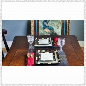 A table setting can be made elegant with something as simple as a folded dinner napkin.